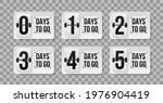 number of days left counting...