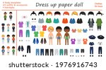 Dress Up Paper Doll. Big Set Of ...
