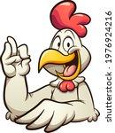 cartoon chicken making the okay ...   Shutterstock .eps vector #1976924216
