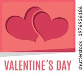 happy valentines day card with...   Shutterstock .eps vector #1976936186