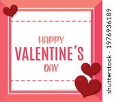 happy valentines day card with...   Shutterstock .eps vector #1976936189