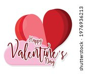 happy valentines day card with...   Shutterstock .eps vector #1976936213