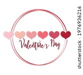 happy valentines day card with...   Shutterstock .eps vector #1976936216