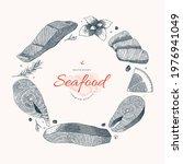 seafood menu design  frame... | Shutterstock .eps vector #1976941049