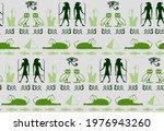 ethnic egyptian writing script... | Shutterstock .eps vector #1976943260