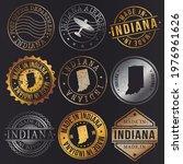 indiana  usa business metal... | Shutterstock .eps vector #1976961626