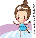 the view of figure skater  | Shutterstock .eps vector #197696300