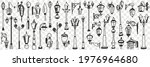 outdoors vintage lamps doodle...   Shutterstock .eps vector #1976964680