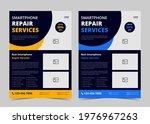 smartphone repair service flyer ...   Shutterstock .eps vector #1976967263