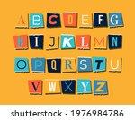 paper style random note letter... | Shutterstock .eps vector #1976984786