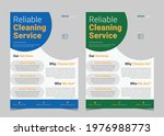 cleaning service flyer template....   Shutterstock .eps vector #1976988773