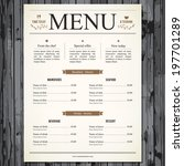 restaurant menu design | Shutterstock .eps vector #197701289