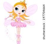 little cute fairy ballerina... | Shutterstock . vector #197704664