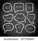 speech and thought bubbles on...   Shutterstock .eps vector #197705849