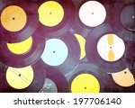 top view of many  records .... | Shutterstock . vector #197706140
