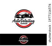 auto detailing service logo... | Shutterstock .eps vector #1977116576