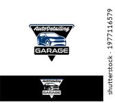 auto detailing service logo... | Shutterstock .eps vector #1977116579