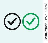 check mark black and green line ... | Shutterstock .eps vector #1977118049