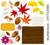 autumn design elements | Shutterstock .eps vector #197713580