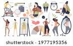 weight loss set with fit body...   Shutterstock .eps vector #1977195356