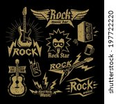 rock music | Shutterstock .eps vector #197722220