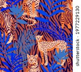 seamless pattern with african... | Shutterstock .eps vector #1977229130