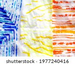 Polka Print. Multicolour Art....