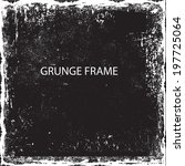 abstract grunge frame. vector... | Shutterstock .eps vector #197725064