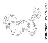 funny shaggy dog. silhouette of ...   Shutterstock .eps vector #1977263840