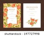 floral vector vertical vintage... | Shutterstock .eps vector #197727998