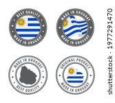 made in uruguay   set of labels ... | Shutterstock .eps vector #1977291470