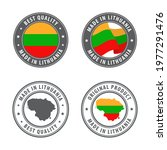 made in lithuania   set of... | Shutterstock .eps vector #1977291476