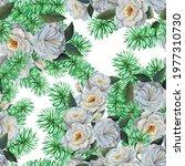 seamless pattern watercolor... | Shutterstock . vector #1977310730