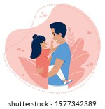 vector illustration of father... | Shutterstock .eps vector #1977342389
