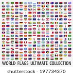 flags vector of the world  | Shutterstock .eps vector #197734370