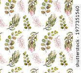 seamless pattern with exotic... | Shutterstock . vector #1977351560