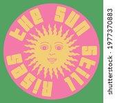 Retro Sun Vector Art Fashion...
