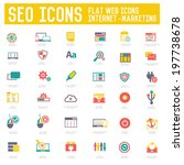 seo   internet marketing icons... | Shutterstock .eps vector #197738678