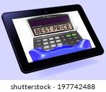 best price calculator tablet... | Shutterstock . vector #197742488