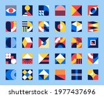 bauhaus forms. square tiles... | Shutterstock .eps vector #1977437696