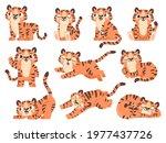 cute baby tigers. cartoon...   Shutterstock .eps vector #1977437726