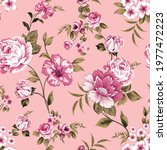 vector vintage flower seamless  ... | Shutterstock .eps vector #1977472223