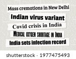 coronavirus in india. news... | Shutterstock .eps vector #1977475493