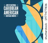 june is national caribbean...   Shutterstock .eps vector #1977477836