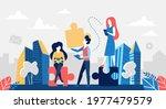 business teamwork concept... | Shutterstock . vector #1977479579