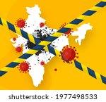 an outbreak of black mold... | Shutterstock .eps vector #1977498533