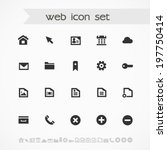 simple black on white web icons