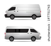 van transport vector concept | Shutterstock .eps vector #197751743