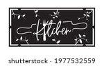 home banner blackboard  vector. ... | Shutterstock .eps vector #1977532559