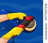 hand holding car polishing... | Shutterstock .eps vector #1977537536
